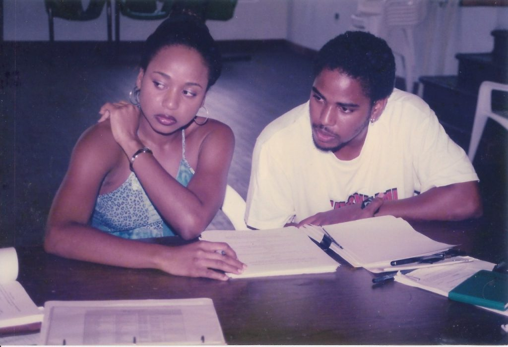 Table reading with Jermilla Kirwan and Omar Mathurin (July 2000)